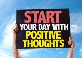 Start Your Day mit positiven Gedanken Karte