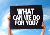 What Can We Do For You? card
