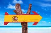 Spanien Fahne aus Holz-Schild