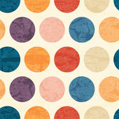 Abstract seamless pattern with grunged colorful polka dots on a off-white background Lovely color palette Endless backdrop for wrapping packaging textile and interior decoration