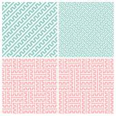 Zipper patterns on white background in four style