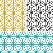 Abstract modern geometric hexagon pattern in tree style