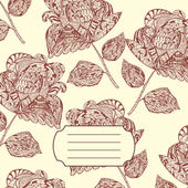 Design of Notebook Cover with hand-drawn Doodle ethnic Flowers Pattern Vector Illustration