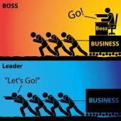 Jdi! nebo jdeme!, vůdce podnikatelské činnosti nebo šéf