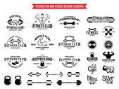 Sport a Fitness Logo šablon, tělocvična logotypy a prvky návrhu