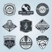 Vektor zene Logo, ikonok és látványelemek