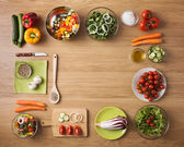 Gesunde Vegetarische hausgemachte Kost