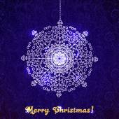 Stylish vector invitation with Christmas decorations on a gorgeous paisley pattern