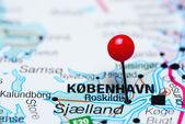 Roskilde, připnul na mapě dánský
