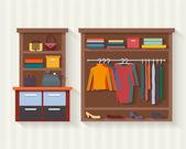 Muž a žena oblečení shop
