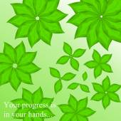 Abstract background with leaves your progress is in your hands