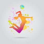 Žena hrající valleyball