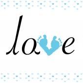 Baby Fußabdruck mit Liebe Vektor Hintergrund