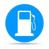 Gasoline pump nozzle sign Gas station icon Flat design style
