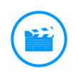 Постер, плакат: Movie clapper board movie maker vector