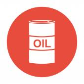 Vector icon barrels of oil Flat illustration EPS