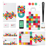 Geometric elements for corporate identity templates Vector illustration