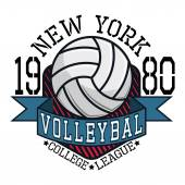Volleyball-College League neue Yorkt-Shirt Typografie, Vector Ill