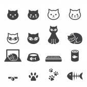 Macska-ikon készlet