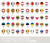 European Countries Flags Collection Part 1  2  version