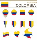 Colombia Flag Collection 12 versions