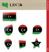Libya Flag Set Flag Set 53 Vector