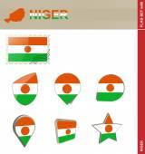 Niger Flag Set Flag Set 69 Vector