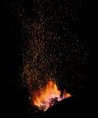 Parázs és a lángok egy smith forge