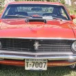 Постер, плакат: Front of the classic car in red