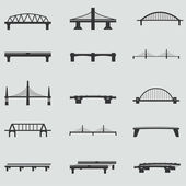 Set of vector bridge icons