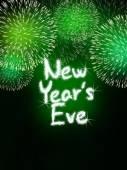 Silvestrovská výročí ohňostroj oslava strany zelená