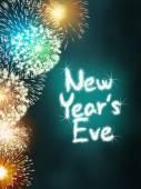 új évvel ezelőtt előest évforduló tűzijáték ünnep fél türkiz