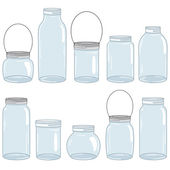 Hand Drawn Mason Jar Set