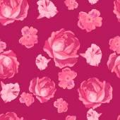 Seamless beautiful flower roses pattern