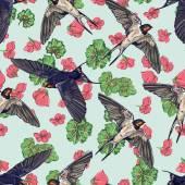 Lenyelni a madarak varratmentes háttérben