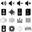 Постер, плакат: Music sounds icons set