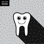 Usmívající se zub ikona a symbol