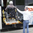 Постер, плакат: Physically disabled bus accessibility platform