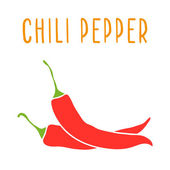 Chili pepper isolated on white Vector hand drawn illustration