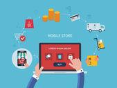 E-commerce a online nakupování ikony