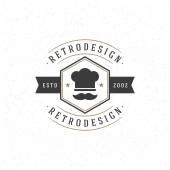 Restaurant-Design-Element im Vintage-Stil für Logo