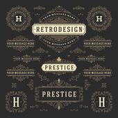 Vintage vektor ozdoby dekorace Design prvky