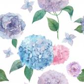Watercolor natural flowers background vector illustration
