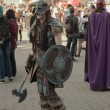 Постер, плакат: Cosplayer dressed as character Dovahkiin from game Skyrim