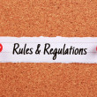 Постер, плакат: Rules And Regulations