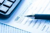 Formulář daňové a finanční koncept