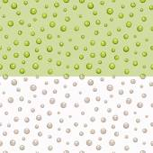 Peas seamless pattern in beige and green colors