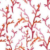 Ocean akvarel korálové vzor