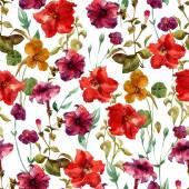 Akvarel květinový vzor