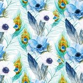 Vzor květy sasanek